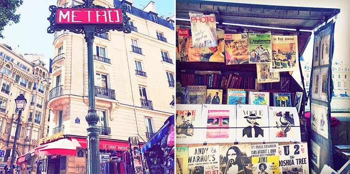 Summer in Paris Photo Diary - metro station magazines