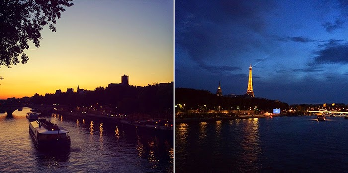 Summer in Paris Photo Diary - sunset and night lights on La Seine