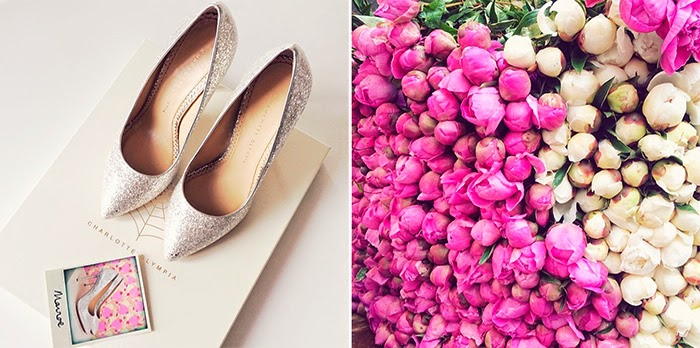 Summer in Paris Photo Diary - Charlotte Olympia heels and peonies