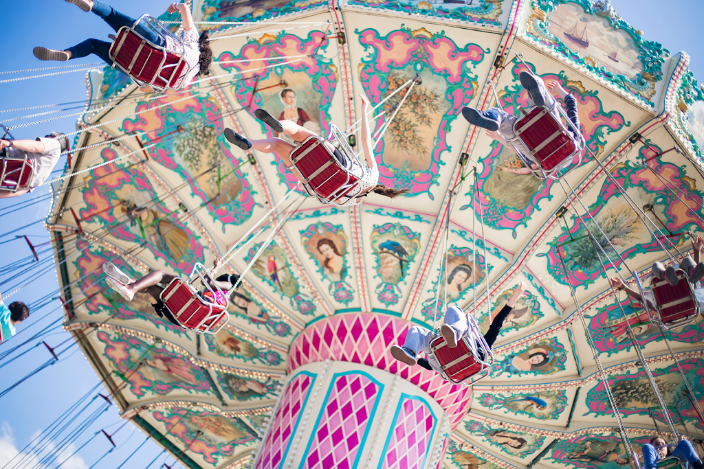 Swing Ride at the Fun fair in Paris 1