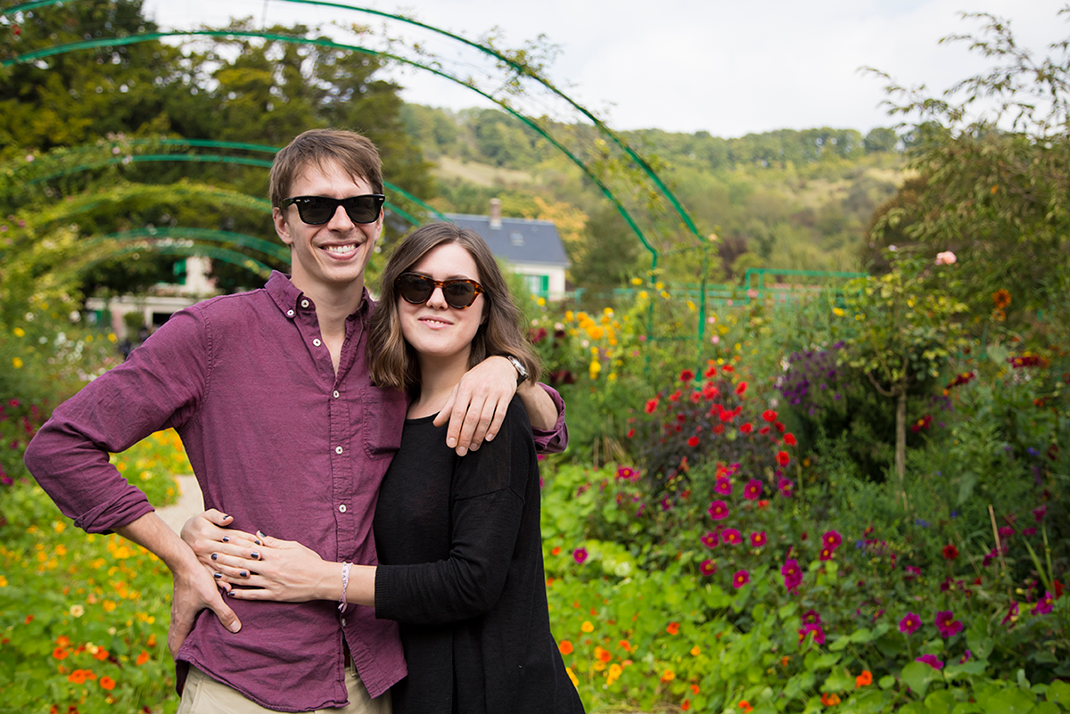 Couple in Giverny