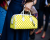 LV Yellow checkered bag PFW SS15 Louis Vuitton Street Style by Ylenia Cuellar