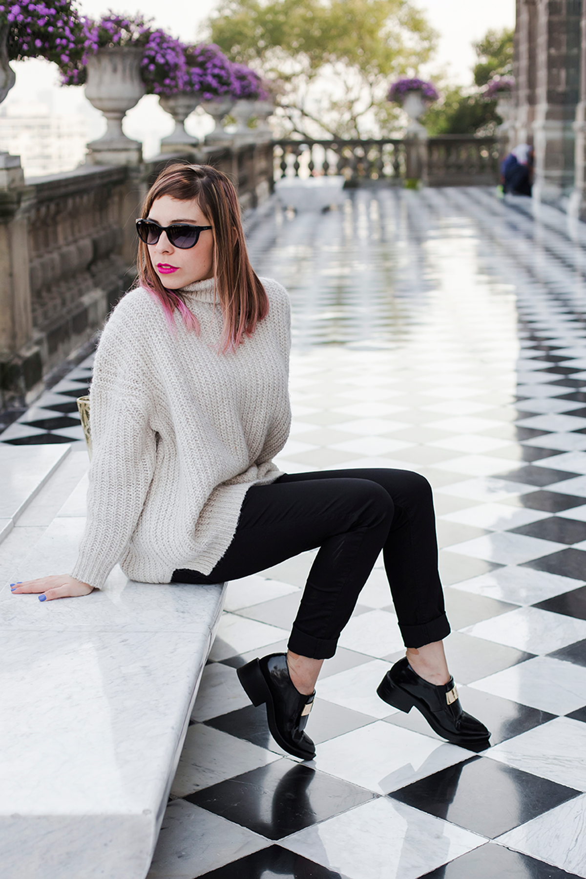 Fashion Outifit tiled floor