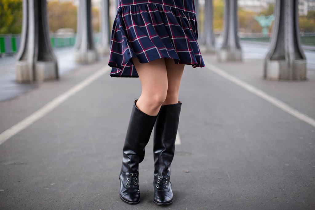 British Style by Ylenia Cuellar in Paris - Carven Boots
