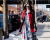 Red coat NYFW AW15 Street Style Ambitious Looks