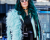 Teal green hair NYFW AW15 Street Style Ambitious Looks