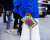 Blue fur NYFW Tommy Hilfiger AW15 Street Style Ambitious Looks