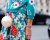 Teal print outfit Paris Couture Week AW15 Chanel Street Style Ambitious Looks