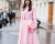 Girl in pink PCW Dior Haute Couture AW15 Street Style