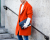 Orange Coat Menswear PFW AW15 Street Style by Ylenia Cuellar