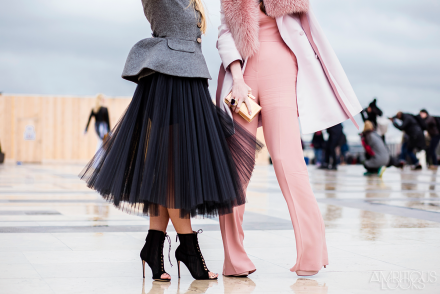 Tulle and Pink Elie Saab Couture AW15 Street Style Ambitious Looks