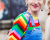 Rainbow sweater Elie Saab Couture AW15 Street Style Ambitious Looks