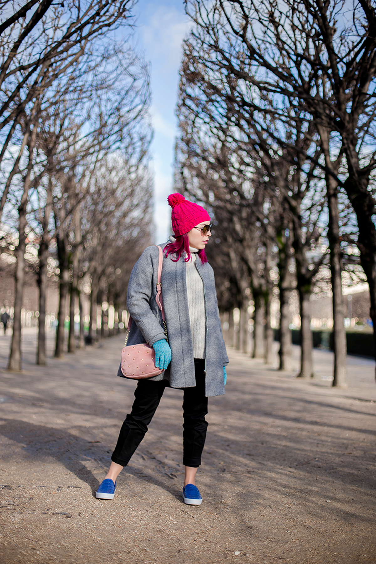 Ambitieuse Paris outfit of the day winter colorful look