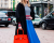 Blue midi skirt Gucci AW15 MFW Street Style by Ambitious Looks