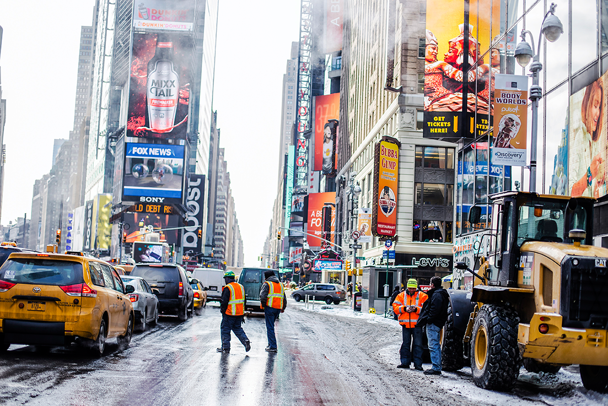 Times Square Photos of Winter in New York City february 2015