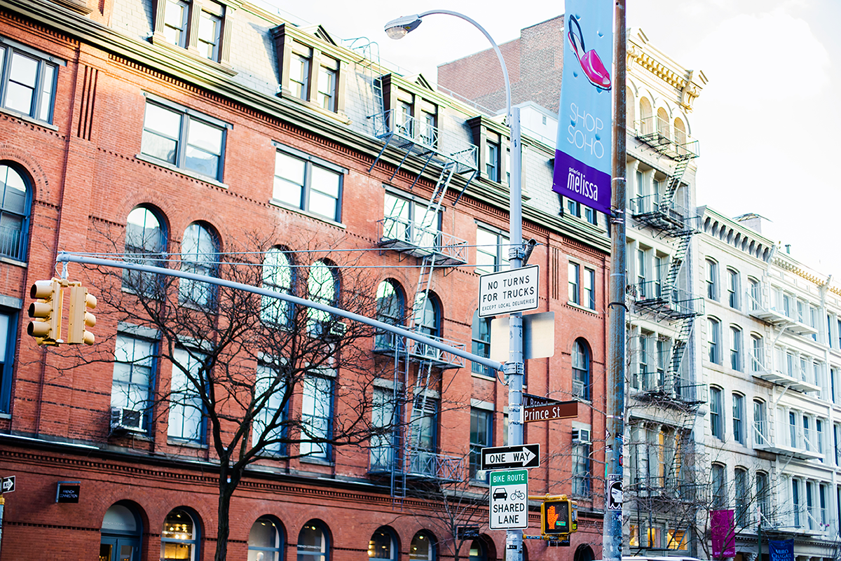 Prince St Photos of Winter in New York City february 2015