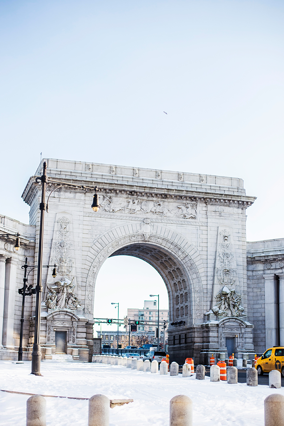 Manhattan Bridge Arch Photos of Winter in New York City february 2015