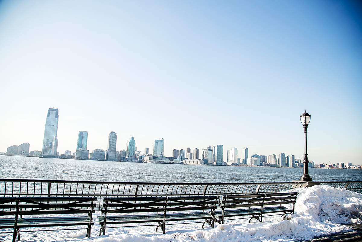 Battery Park view Photos of Winter in New York City february 2015