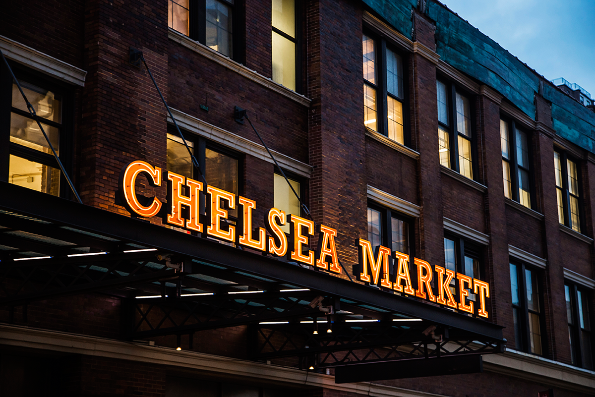 Chelsea Market sign Photos of Winter in New York City february 2015