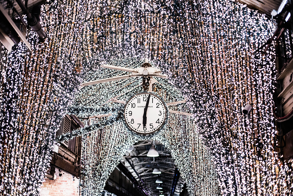 Clock Chelsea Market Photos of Winter in New York City february 2015