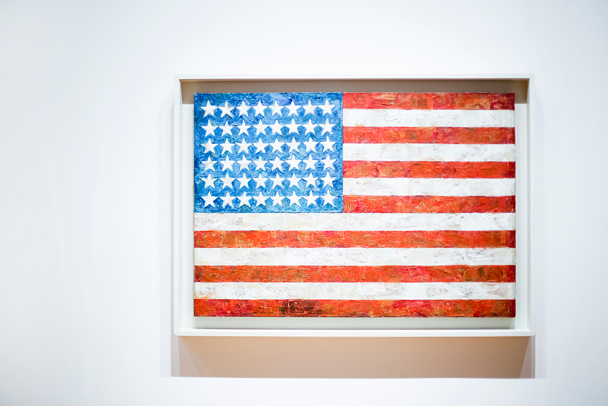 USA Flag MoMA Photos of Winter in New York City february 2015
