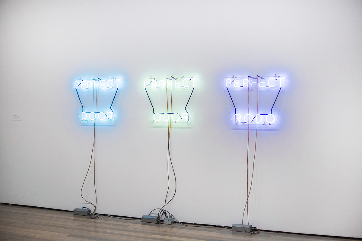 Neon lights MoMA Photos of Winter in New York City february 2015