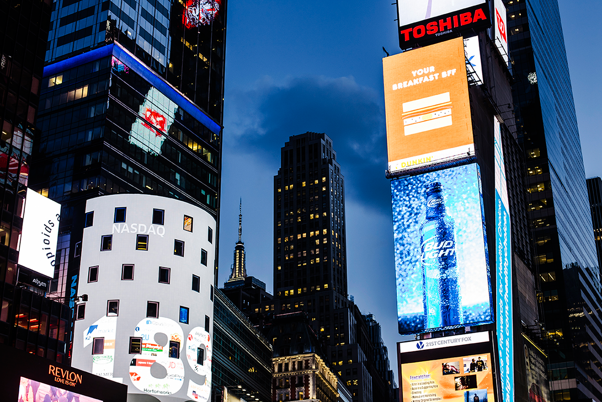 Beautiful photos of New York City February 2015 night at Times Square