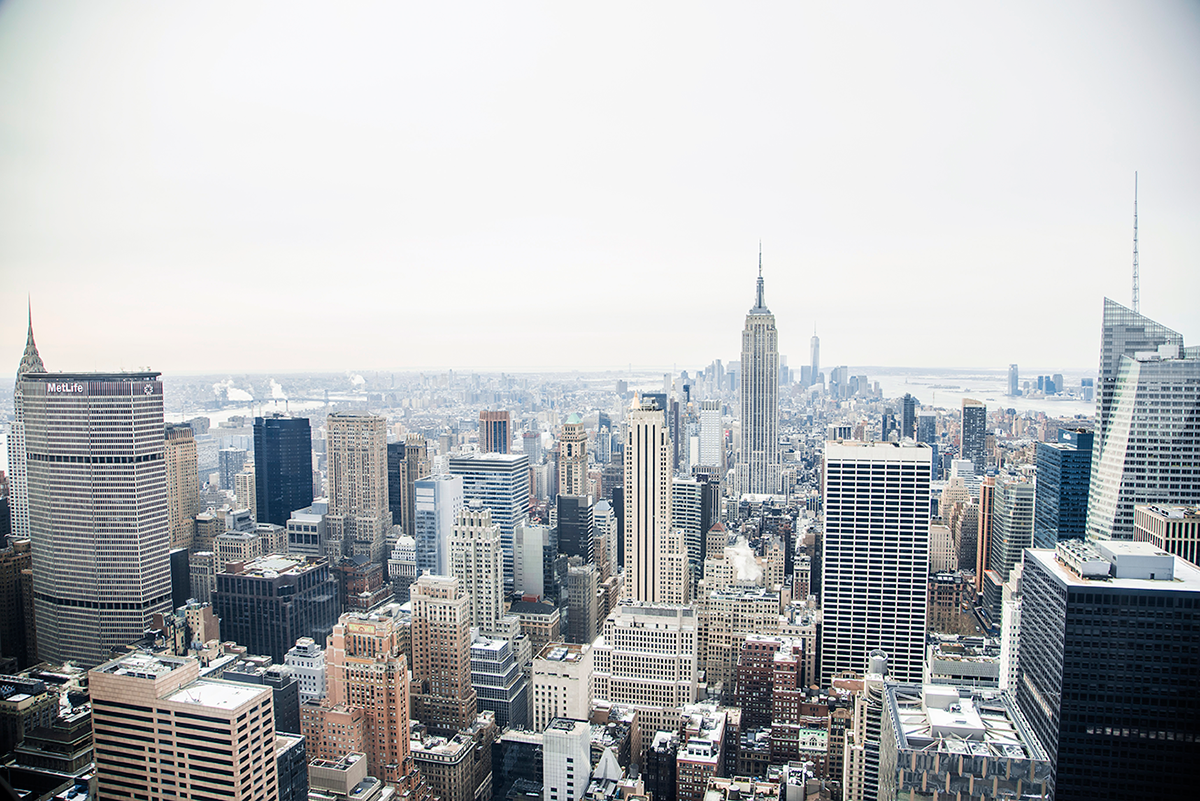 Beautiful photos of New York City February 2015 Top of the Rock view