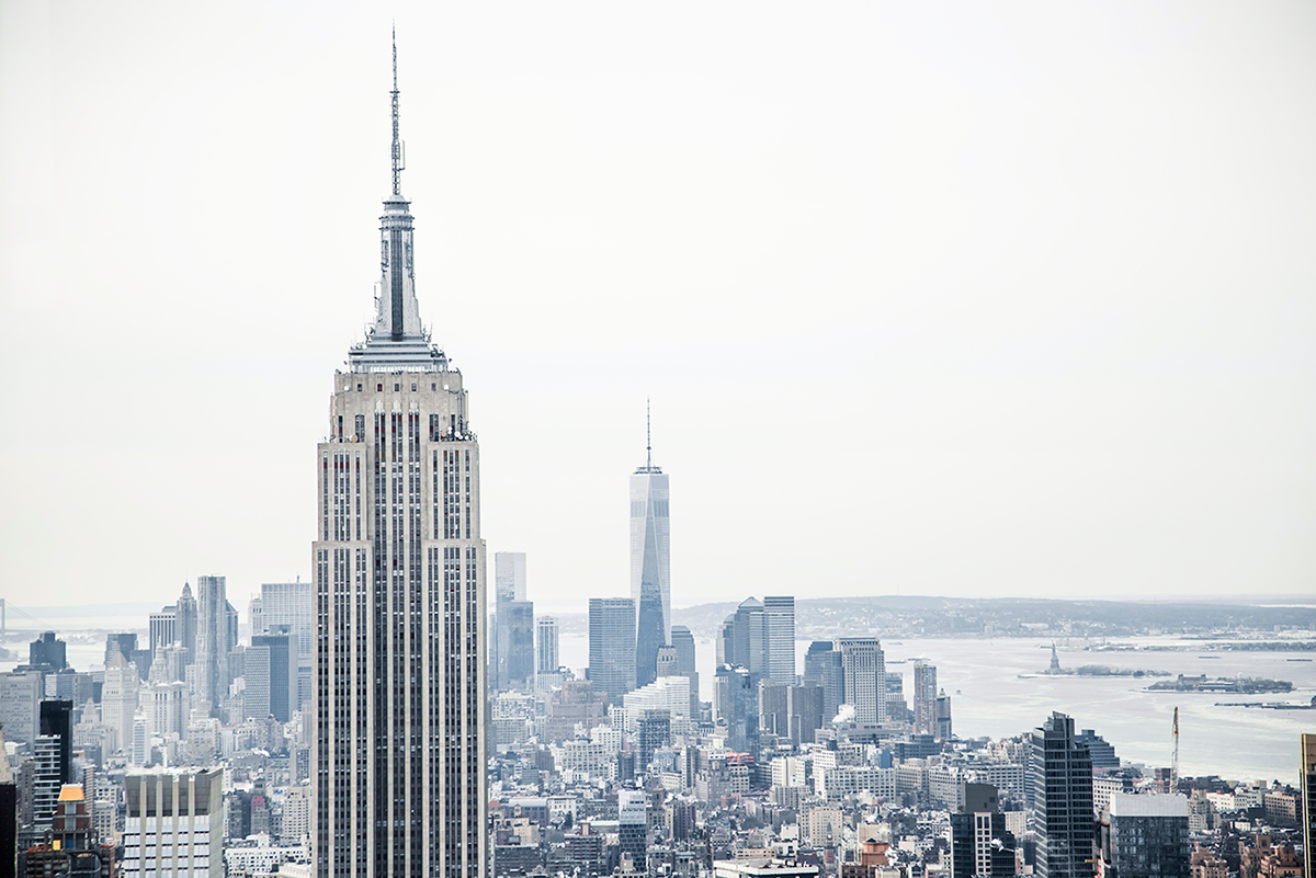 Beautiful photos of New York City February 2015 View of Empire State