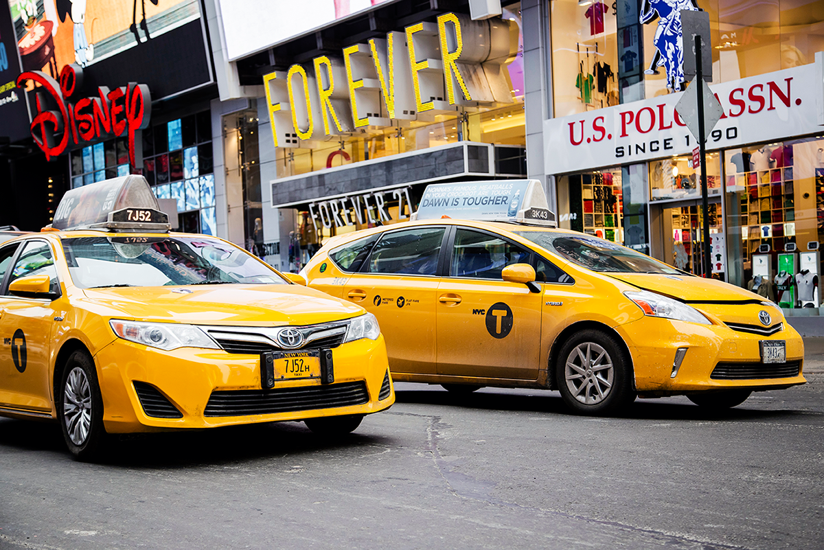 Beautiful photos of New York City February 2015 Times Square Taxis