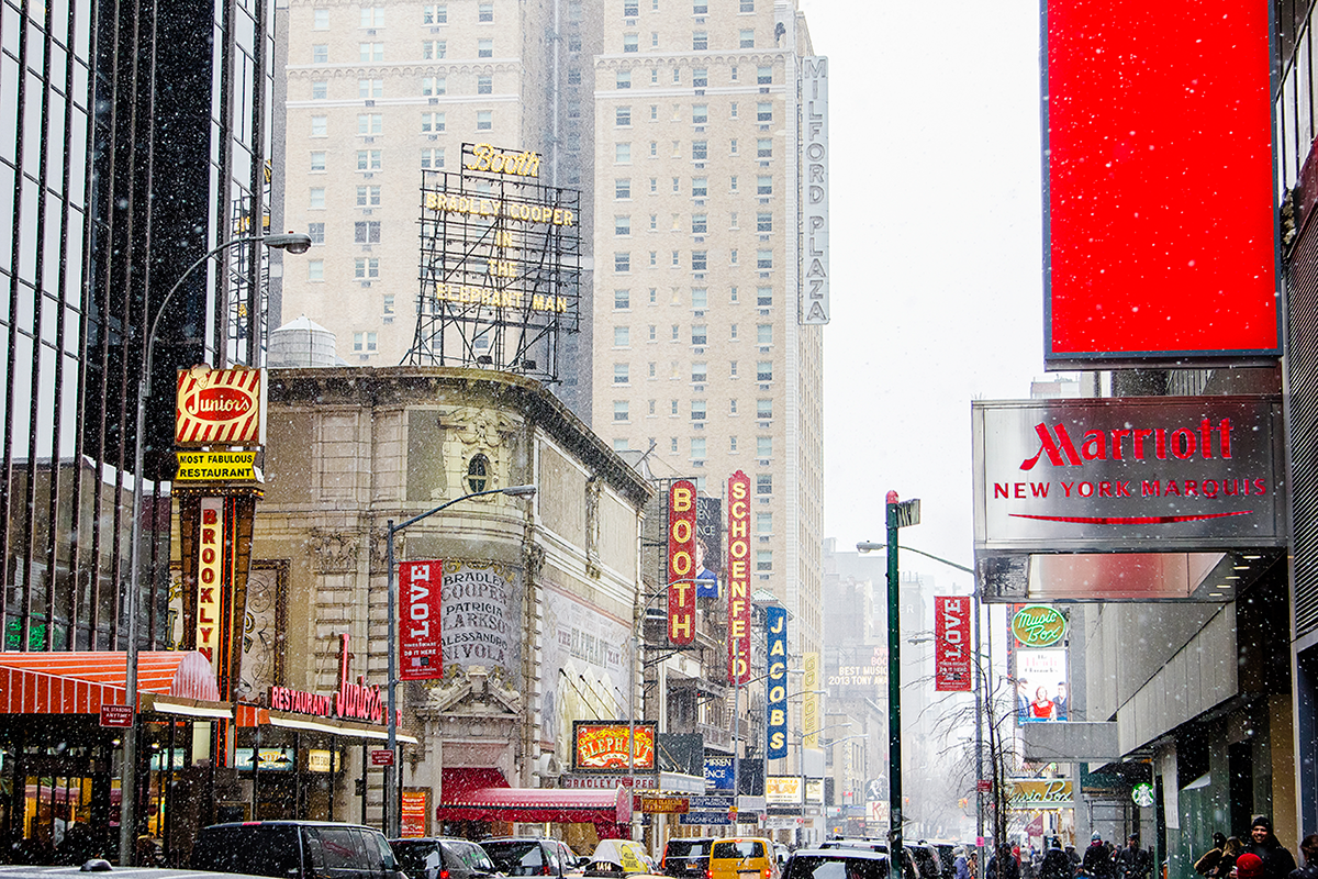New York City february 2015 photo journal Broadway under the snow