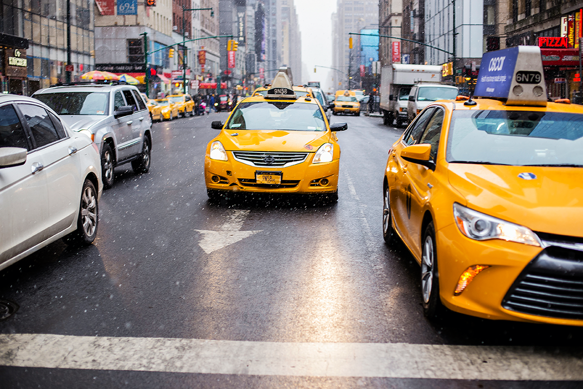 New York City february 2015 photo journal taxis snow