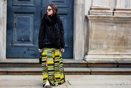 Erika Boldrin MFW AW15 Street Style Just Cavalli by Ambitious Looks