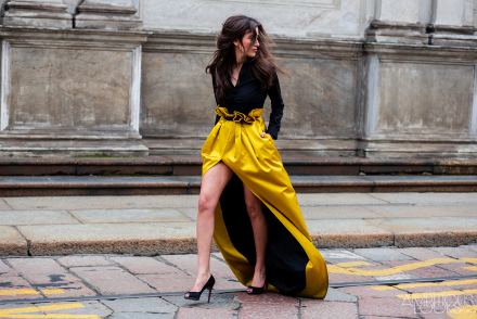 Sylvia Haghjoo Roberto Cavalli AW15 Street Style MFW by Ambitious Looks