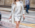 Ivory dress Roberto Cavalli AW15 Street Style MFW by Ambitious Looks