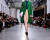 green coat Cedric Charlier AW15 Runway photos by Ambitious Looks Paris Fashion Week