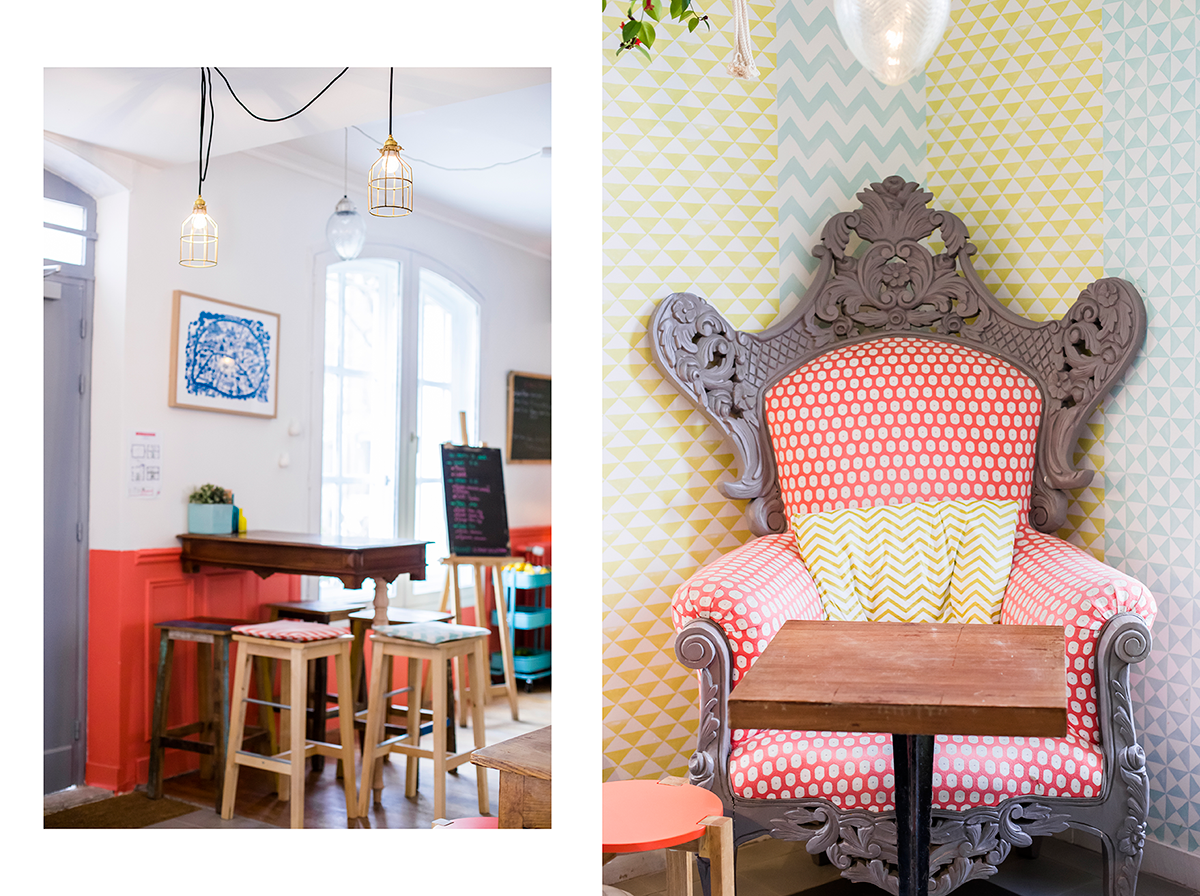 geometrical prints Paris Guide Cute coffee shop in Paris Le Pavillon des Canaux by Ambitieuse