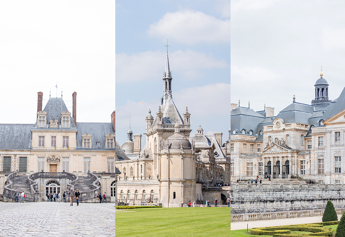 Castles near Paris Fontainebleau, Chantilly, Vaux le Vicomte