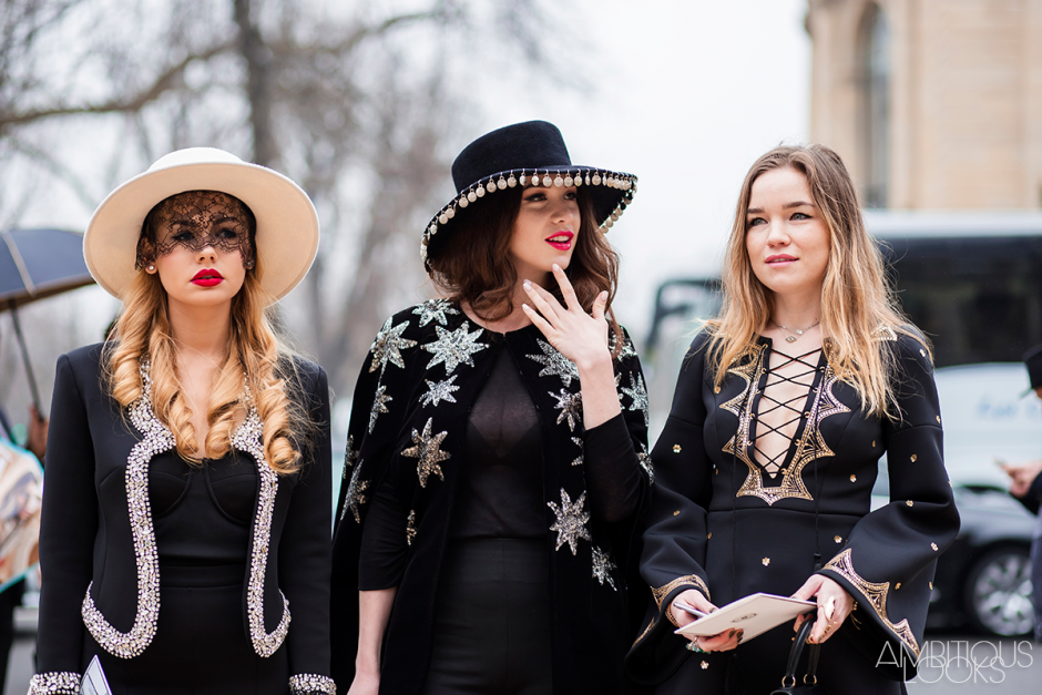Alexandra Rakhimova Zara Rossi at Chanel AW15 Street Style by Ambitious Looks