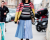 colored stripes at Valentino AW15 Street Style by Ambitious Looks PFW