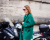 green coat at Valentino AW15 Street Style by Ambitious Looks PFW