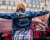 Denim jacket at Stella McCartney AW15 Street Style PFW by Ambitious Looks