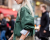 Green jacket at Stella McCartney AW15 Street Style PFW by Ambitious Looks