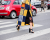 Patched coat at Giambattista Valli AW15 Street Style PFW by Ambitious Looks