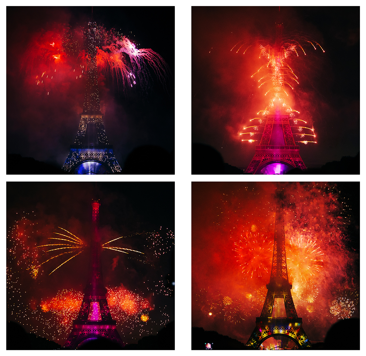 Best view of the Eiffel Tower - Bastille day Fireworks