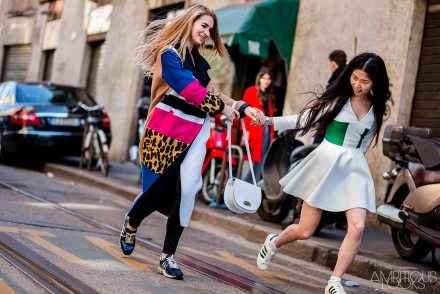 Maria Kolosova and Oksana On MFW AW15 Street Style Dolce & Gabbana by Ambitious Looks