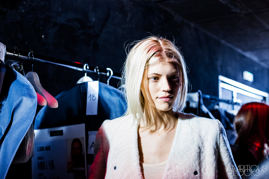 Devon Windsor portrait Each x Other PFW AW15 Backstage photos by Ylenia Ambitious Looks