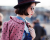 Pink polka dot coat Elie Saab AW15 PFW Street Style for Ambitious Looks by Ylenia Cuellar