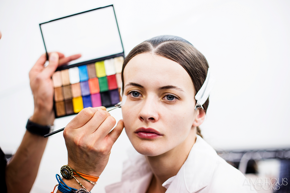 Issey Miyake AW15 Backstage and Runway photos by Ylenia Cuellar Paris Fashion Week