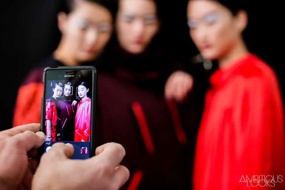 Sunghee Kim and Mona Matsuoka instagram at Kenzo AW15 Backstage by Ylenia Cuellar Ambitious Looks